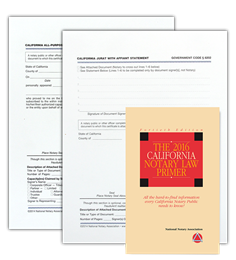 CA Acknowledgment, Jurat and Primer Bundle
