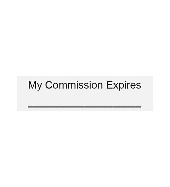 Commission-Date Blank Line Stamp